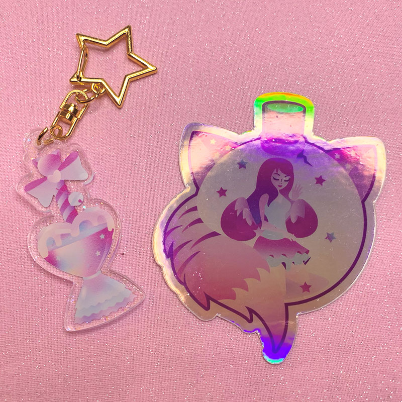 keychain holographic sticker