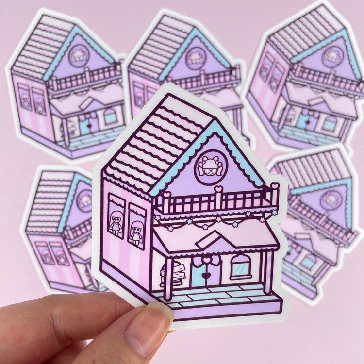 dollhouse vinyl sticker