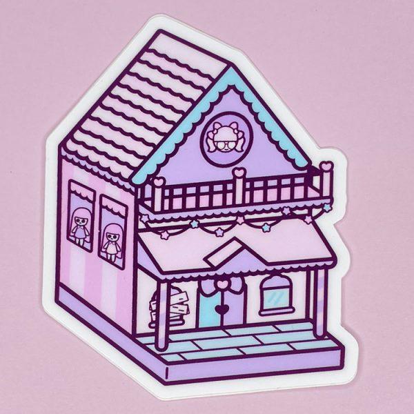 pastel dollhouse sticker cute