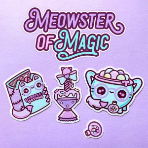 Meowsters of Magic Sticker
