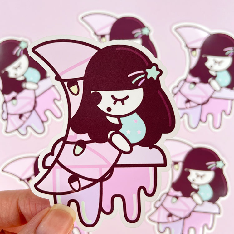 Sleepy Doll Sticker